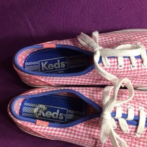 Keds Shoes - KEDS Pink gingham & polka dots sneakers